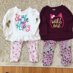 Gymboree matching outfits (2) 12-18 months